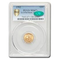 1903 Gold $1.00 Louisiana Purchase Jefferson MS-67+ PCGS CAC