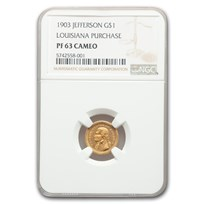 1903 Gold $1.00 Louisiana Purchase Jefferson PF-63 Cameo NGC