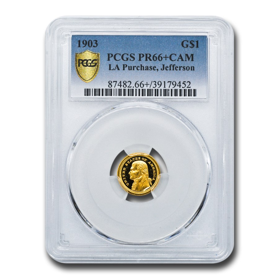 1903 Gold $1.00 Louisiana Purchase Jefferson PR-66+ Cameo PCGS