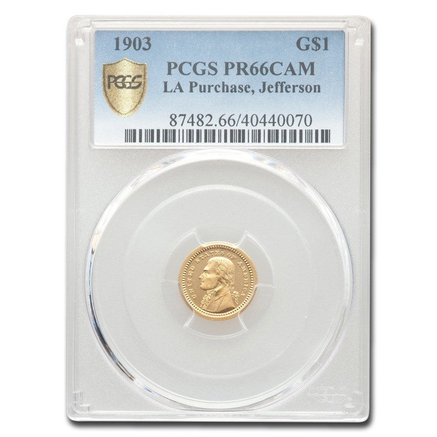 1903 Gold $1.00 Louisiana Purchase Jefferson PR-66 Cameo PCGS