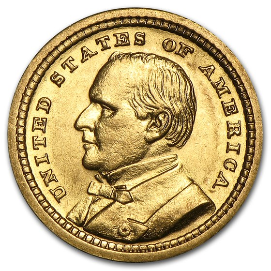 1903 Gold $1.00 Louisiana Purchase McKinley AU