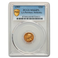 1903 Gold $1.00 Louisiana Purchase McKinley MS-64 PCGS (PL)