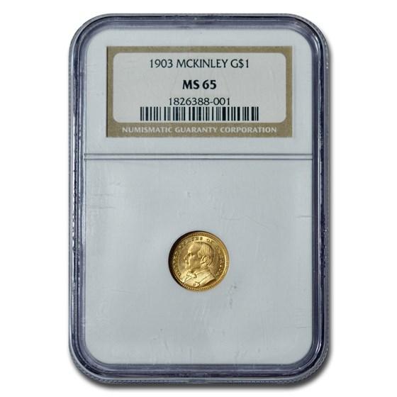 1903 Gold $1.00 Louisiana Purchase McKinley MS-65 NGC