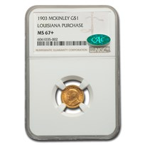 1903 Gold $1.00 Louisiana Purchase McKinley MS-67+ NGC CAC