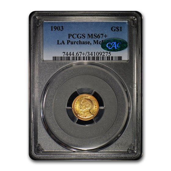 1903 Gold $1.00 Louisiana Purchase McKinley MS-67+ PCGS CAC