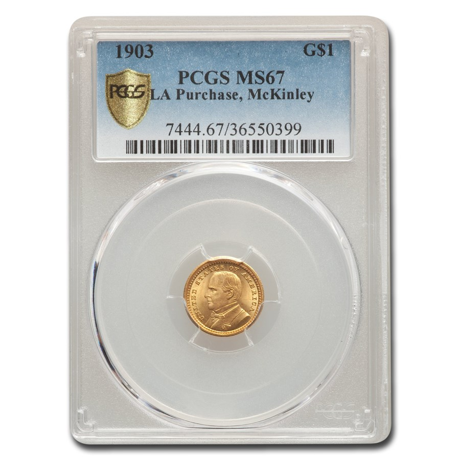 1903 Gold $1.00 Louisiana Purchase McKinley MS-67 PCGS