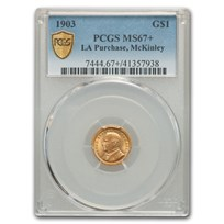 1903 Gold $1.00 Louisiana Purchase McKinley MS-67+ PCGS