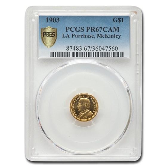 1903 Gold $1.00 Louisiana Purchase McKinley PR-67 Cameo PCGS
