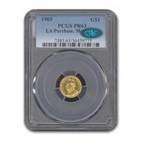 1903 Gold $1.00 McKinley Memorial PR-63 PCGS CAC