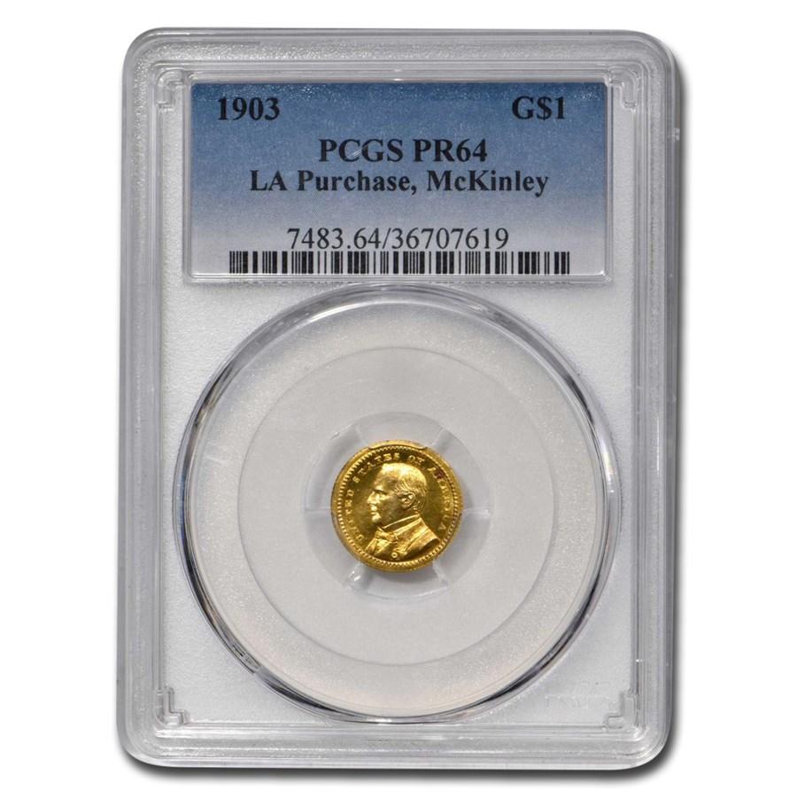 1903 Gold $1.00 Mckinley Memorial PR-64 PCGS