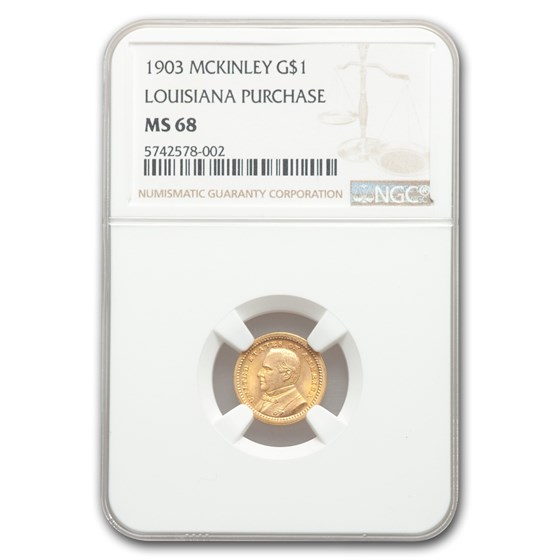 1903 Gold $1.00 McKinley MS-68 NGC
