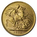 1903 Great Britain Gold Sovereign Edward VII BU