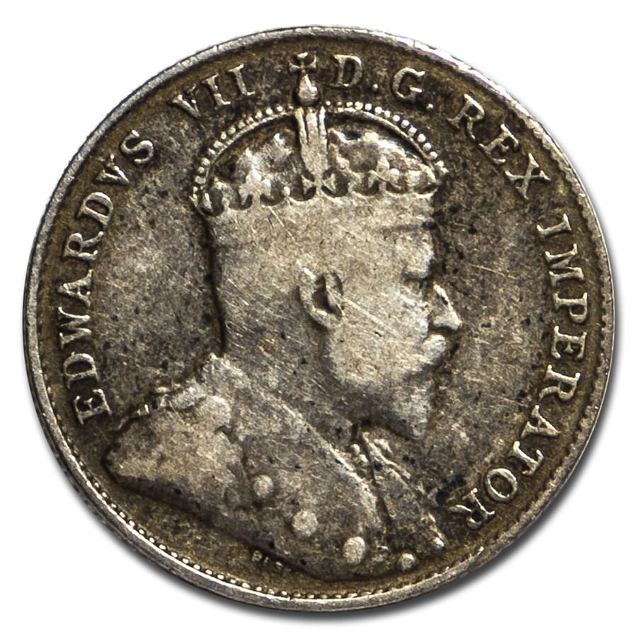 1903-H Canada Silver 10 Cents Edward VII Fine