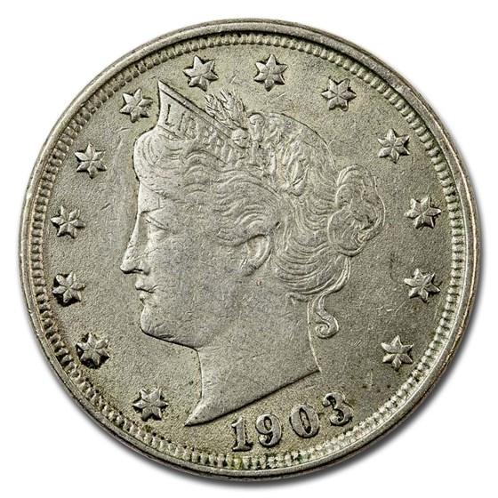 1903 Liberty Head V Nickel AU