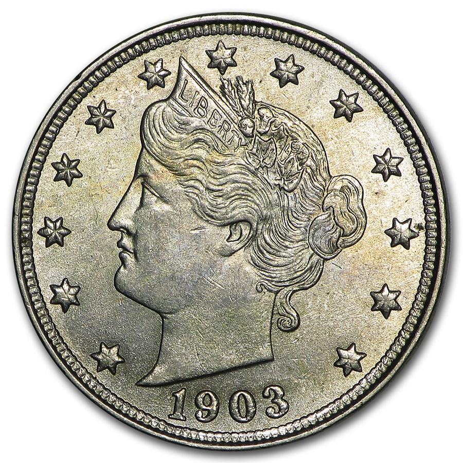 1903 Liberty Head V Nickel BU
