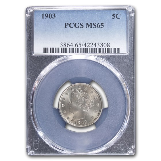 1903 Liberty Head V Nickel MS-65 PCGS