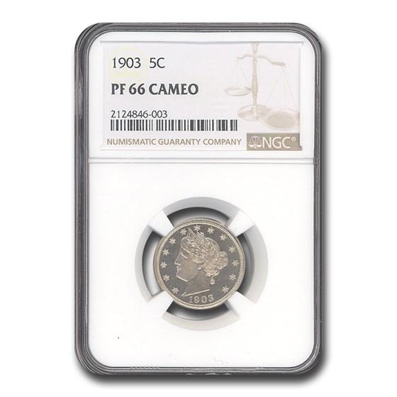 1903 Liberty Head V Nickel PF-66 Cameo NGC