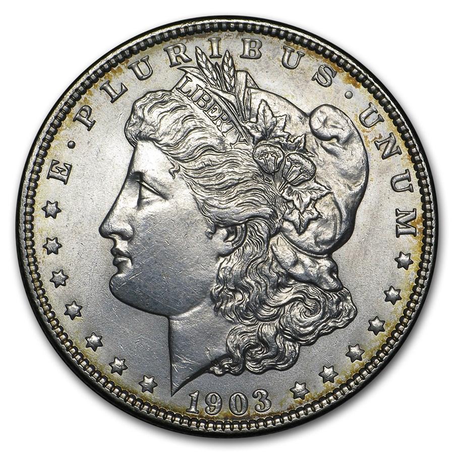 1903 Morgan Dollar BU Details (Cleaned)