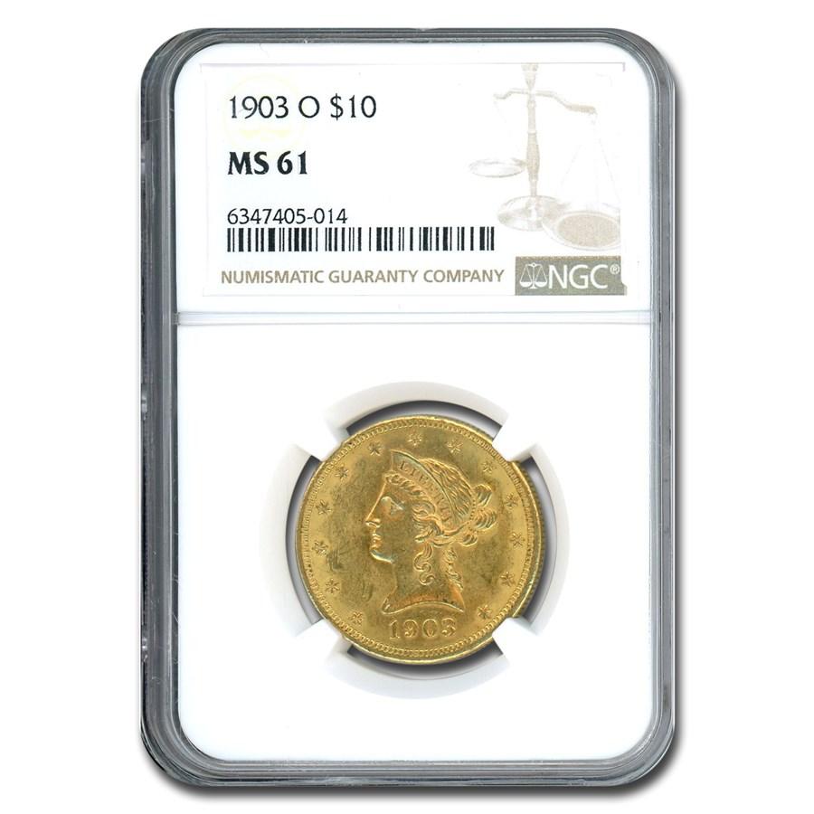 1903-O $10 Liberty Gold Eagle MS-61 NGC
