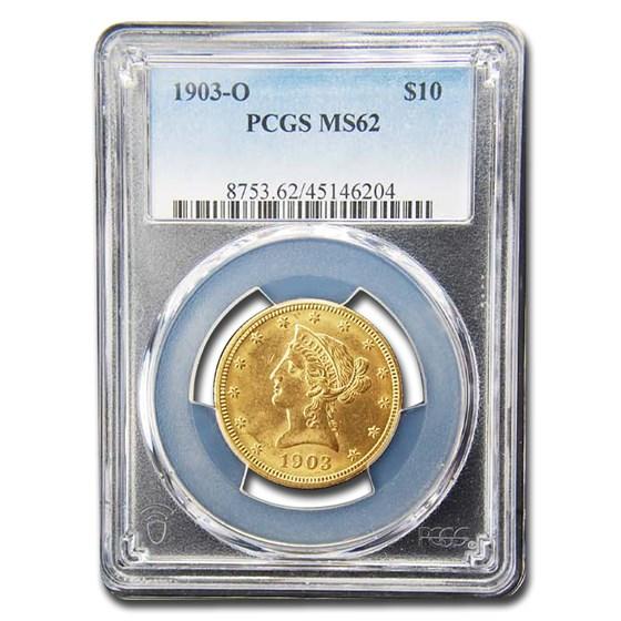 1903-O $10 Liberty Gold Eagle MS-62 PCGS