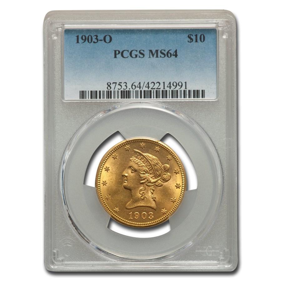 1903-O $10 Liberty Gold Eagle MS-64 PCGS