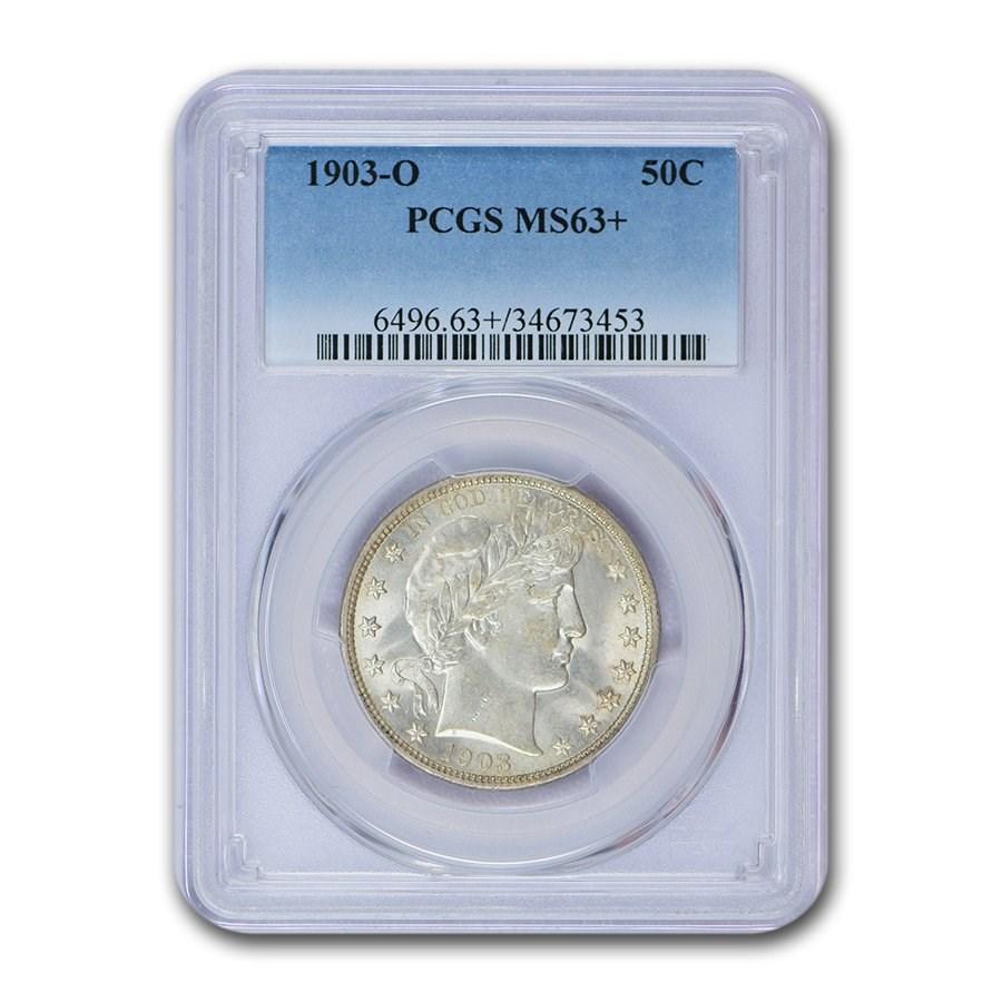 1903-O Barber Half Dollar MS-63+ PCGS