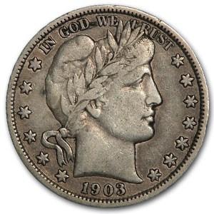 1903-O Barber Half Dollar XF