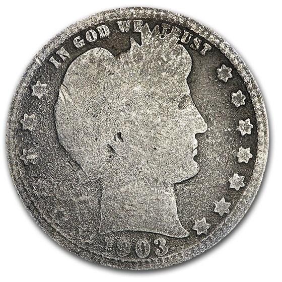 1903-O Barber Quarter AG
