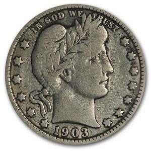 1903-O Barber Quarter Good