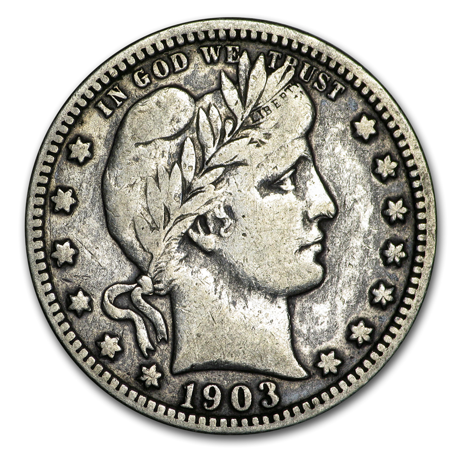 1903-O Barber Quarter VF