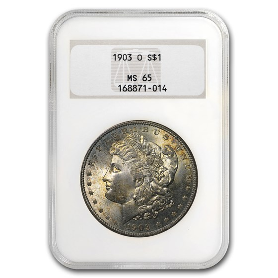 1903-O Morgan Dollar MS-65 NGC (Toned)