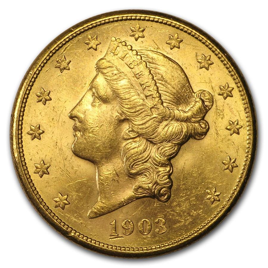 1903-S $20 Liberty Gold Double Eagle AU