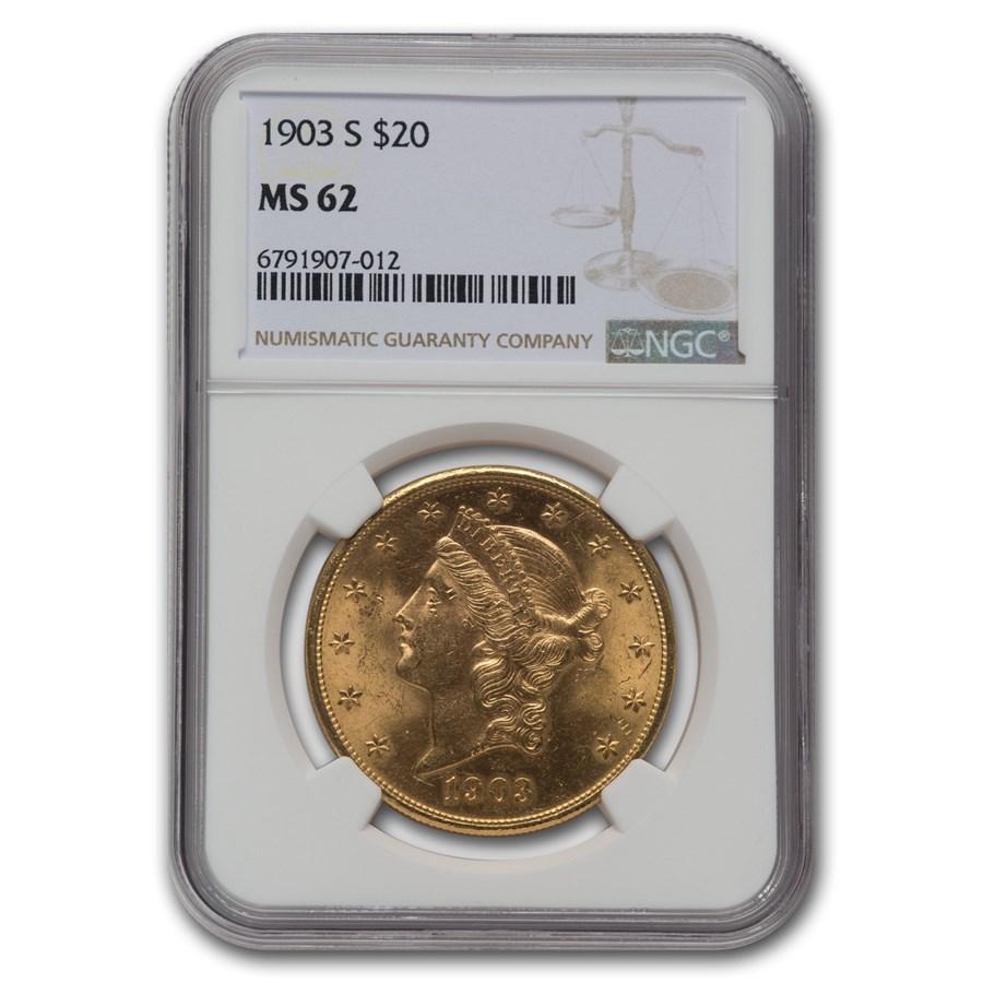 1903-S $20 Liberty Gold Double Eagle MS-62 NGC