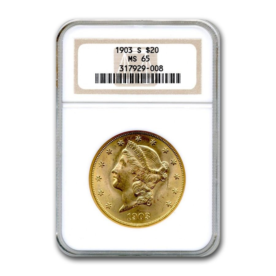 1903-S $20 Liberty Gold Double Eagle MS-65 NGC