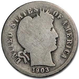 1903-S Barber Dime Good