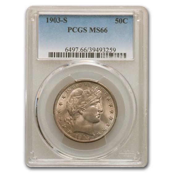 1903-S Barber Half Dollar MS-66 PCGS