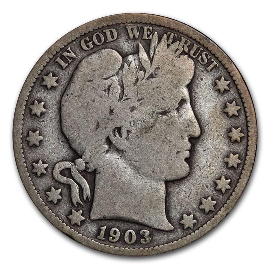 1903-S Barber Half Dollar VG