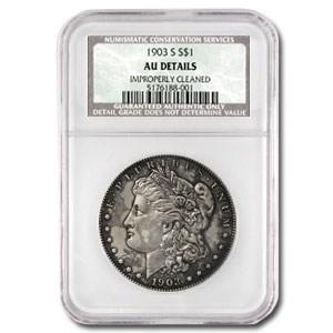 1903-S Morgan Dollar AU Details NCS (Improperly Cleaned)