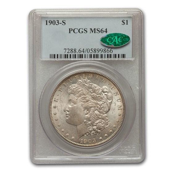 1903-S Morgan Dollar MS-64 PCGS CAC