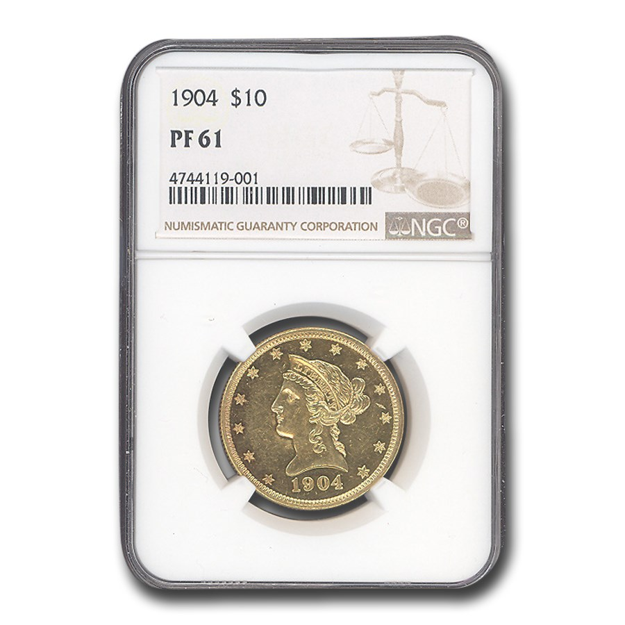 1904 $10 Liberty Gold Eagle PF-61 NGC