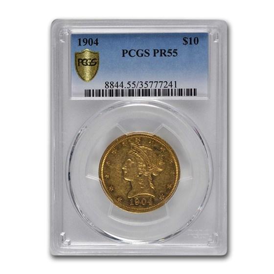 1904 $10 Liberty Gold Eagle PR-55 PCGS