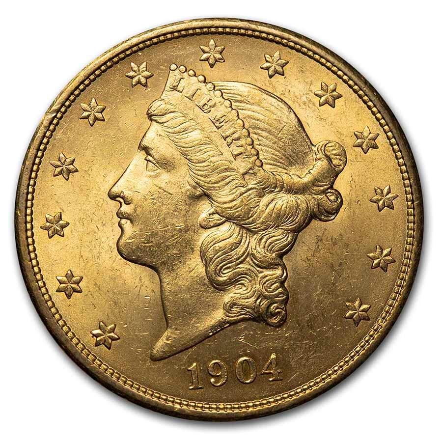 1904 $20 Liberty Gold Double Eagle AU