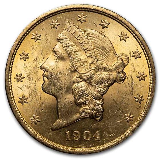 1904 $20 Liberty Gold Double Eagle BU