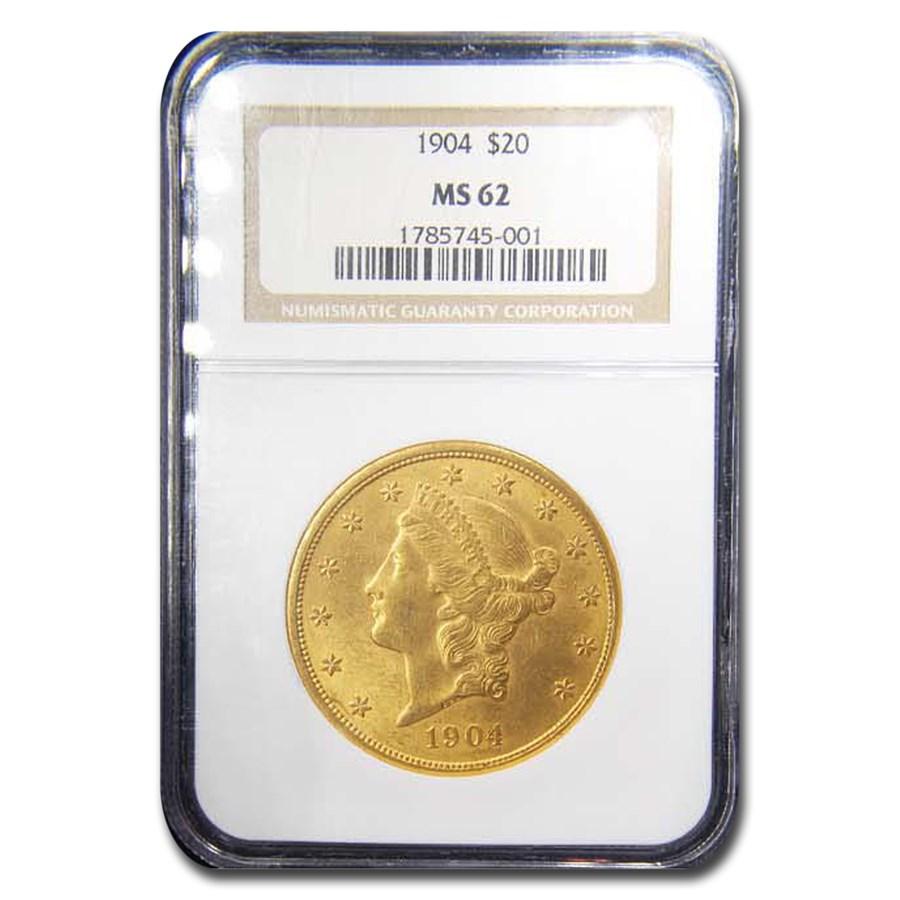 1904 $20 Liberty Gold Double Eagle MS-62 NGC