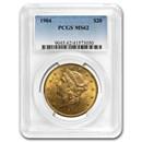 1904 $20 Liberty Gold Double Eagle MS-62 PCGS