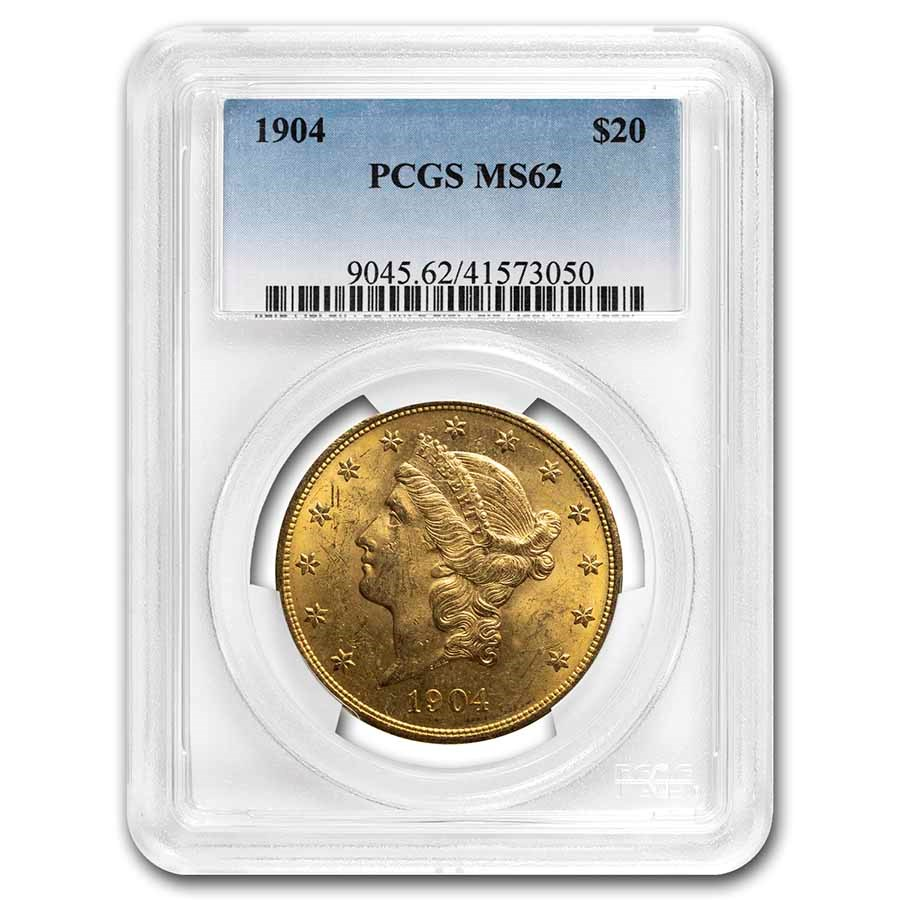 1904 $20 Liberty Gold Double Eagle MS-62 PCGS