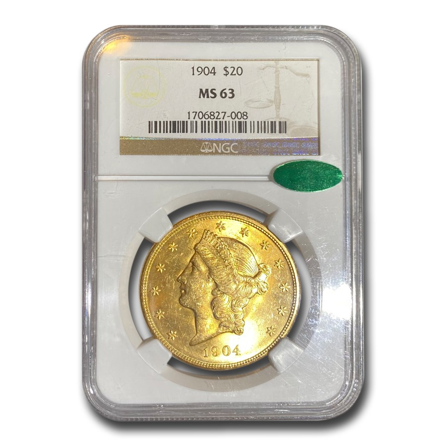 1904 $20 Liberty Gold Double Eagle MS-63 NGC CAC