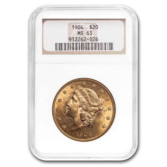 1904 $20 Liberty Gold Double Eagle MS-63 NGC