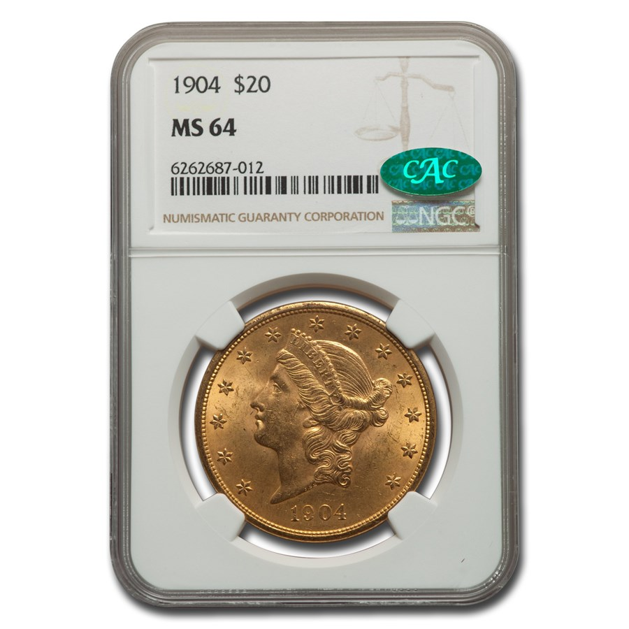1904 $20 Liberty Gold Double Eagle MS-64 NGC CAC
