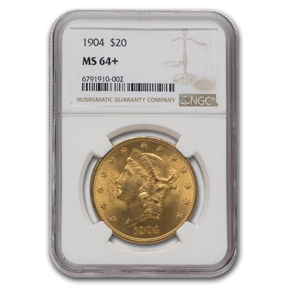 1904 $20 Liberty Gold Double Eagle MS-64+ NGC (Plus)